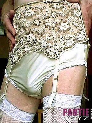 Gorgeous frills & hard Cocks on these pantie boyz